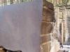 Close up of cut brownstone