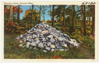 Cairn, post card from collection of Boston Public Library
