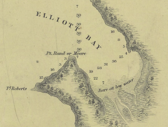 Charles Wilkes' 1841 Map of Puget Sound