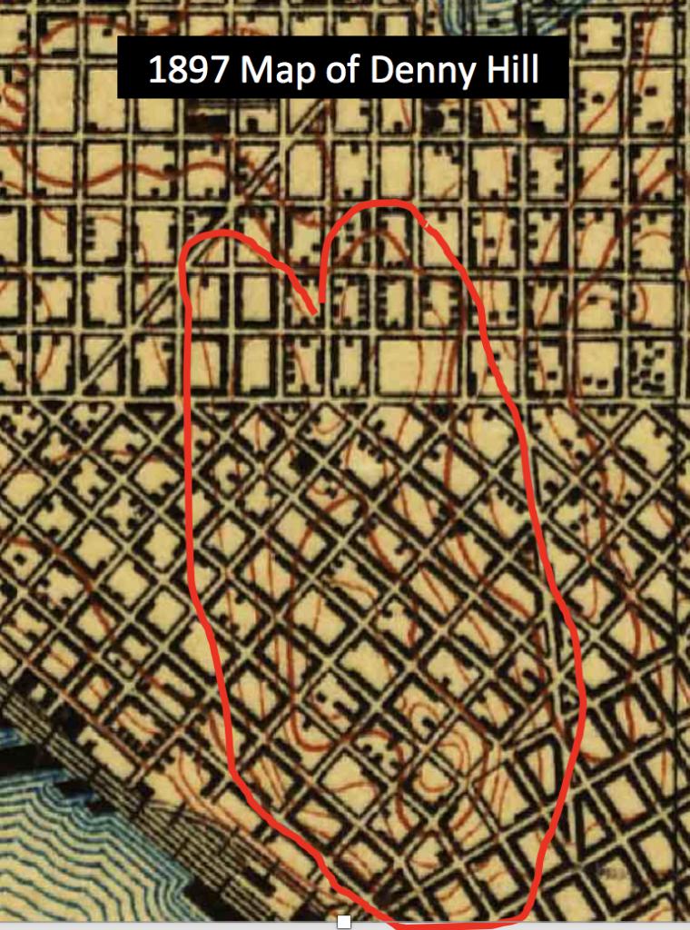 1897 Topo Map Denny Hill