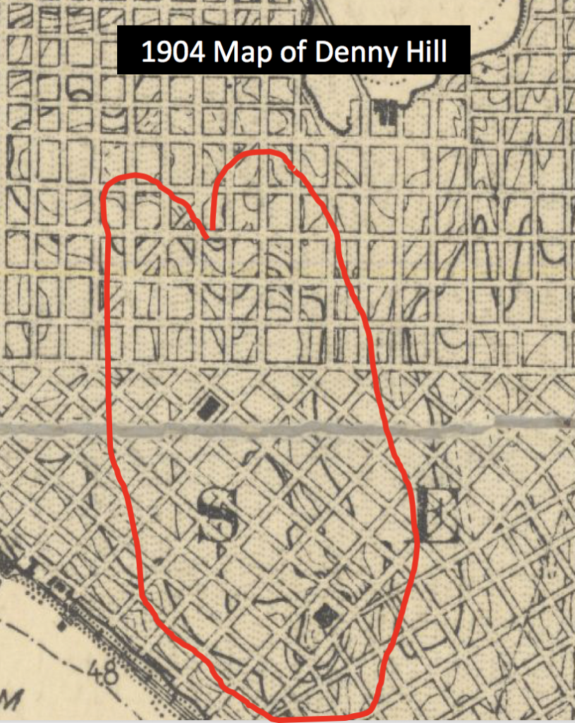 1904 Topo Map Denny