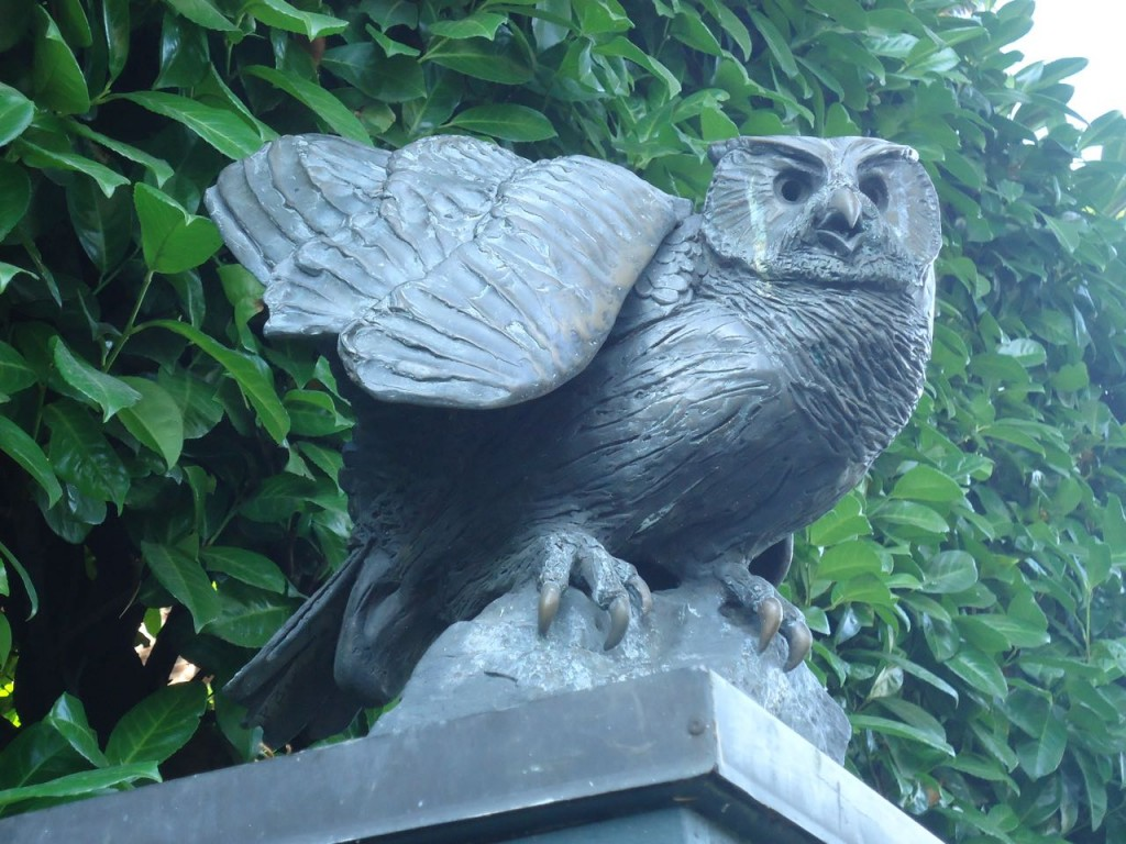 One of two owls on Tenth Avenue East at East Galer Street